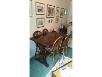 Ercol Dining Table and 4 x chairs