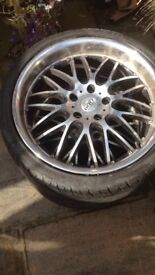 18 inch mugello dots alloy set with tyres