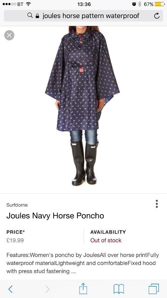 Joules horse pattern waterproof poncho