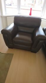 Brown Leather Armchair brand new great quality from Cousins
