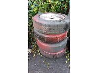 Classic Mini 12 inch steel wheels trailer wheel
