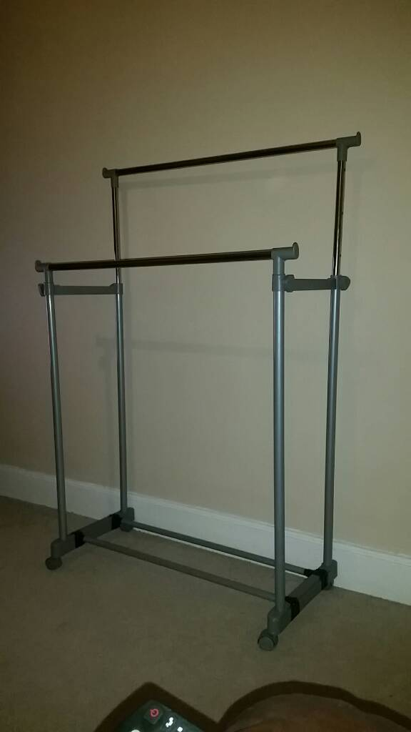 Double clothes rail excellent for home or car boot sale  in