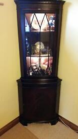 Corner unit mahogany colour