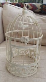 Decorative bird cage.