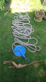 rope jenny tackle for builders . hand held lifting tackle
