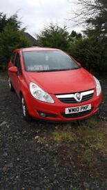 2010 vauxhall corsa red