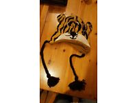 Child's winter hat, tiger style