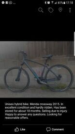 Unisex Hybrid bike Crossway 2015