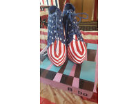 American Flag High Heels with 15cm heels *NEW*, UK Size 6 EUR 39 with original box