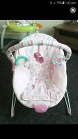 Girls bouncy chair