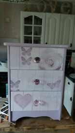 Lovely upcycled bedside cabinet