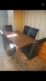 Table and Six Chairs (Seven Chairs available)