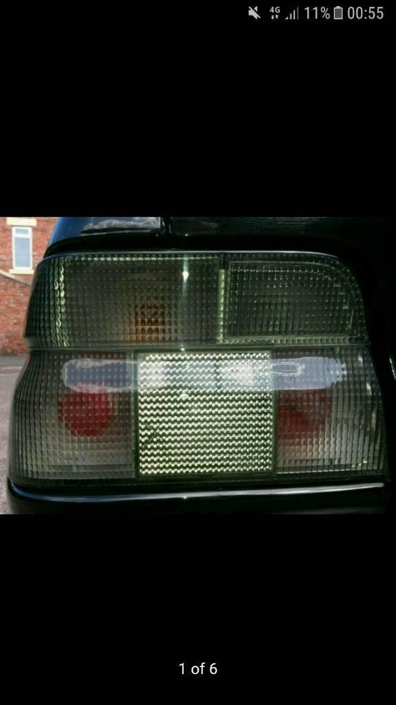 mk5 escort nomad racing smoke rear lights very rare rs 2000 cosworth orion ghia xr3i s sport