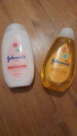 Johnson's baby shampoo and lotion