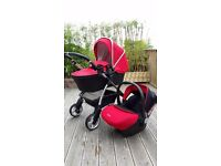 Full Silvercross wayfarer travel system in chilli red excellent condition