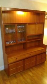 Large Nathan Teak Display Cabinet
