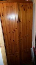 Dark pine wardrobe