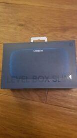 Samsung EO-SG930CLEG Original LEVEL Box Slim Wireless Portable Bluetooth Speaker - Blue