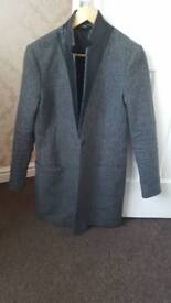 All Saints Lorie Tula Tweed Leather Jacket 12