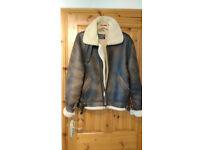 Genuine vintage sheepskin flying jacket 1980s