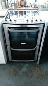 Stainless steel Electrolux electric cooker with double ovens