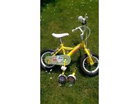 "Childrens Bicycle - 12"" Yellow ""Sugar & Spice"""