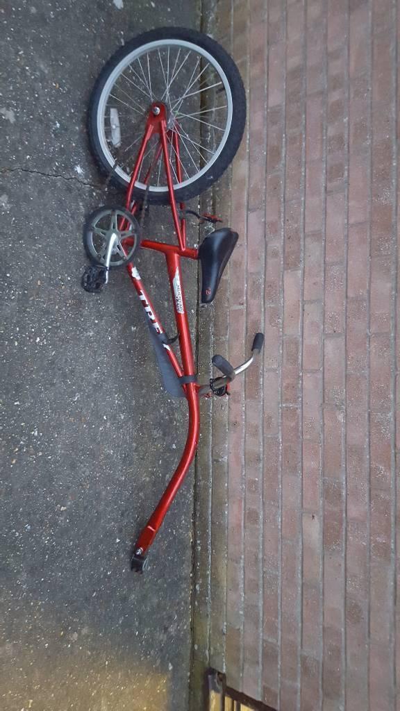 Tag along bike, trek tag along, tow along buke