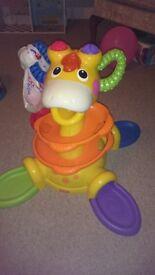 Fisher Price Ball Feed Giraffe. Baby Toddler Toy