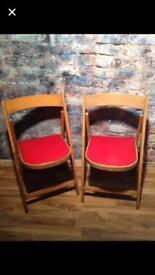 2 yugoslavia retro folding chairs