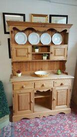 Stunning Durham Pine country farmhouse kitchen dresser