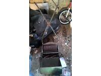 Push cylinder lawnmower