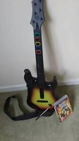 Guitar Hero guitar and World Tour game PS3