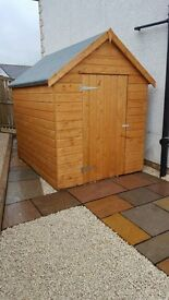 HEAVY DUTY 8X6 APEX SHED 19MM THICK T&G WEATHER BOARD T&G ROOF & FLOOR