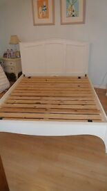 Freya Double Bed solid wood base