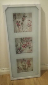 Ikea Floral Picture and White Frame (Brand New, Never Used)