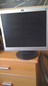 """HP monitor good condition, 17"""" screen."""
