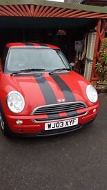 Mini One red/black 2003 very good condition