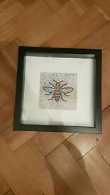 Framed manchester bee wasp print