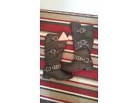 Ladies black boots size 3 brand new