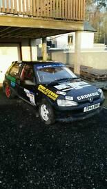 Rally car Peugeot 106