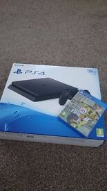 Brand new and sealed. ps4 with fifa 17 bundle, unopened