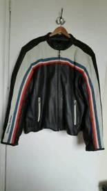 Cafe racer leather jacket.
