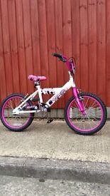 Girls Bicycle age 3+ Pink/white