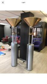 Pair of large lamps over 6ft heavy metal