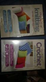 Knitting and crochet dvds