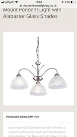 2 x Three pendant lighting