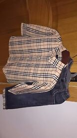 Boys burberry outfit