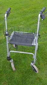Mobility walker with tray