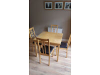 Ikea Extending Dining Table & 4 Chairs