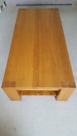 Solid Light Oak Coffee Table- Excellent condition- No marks scratches